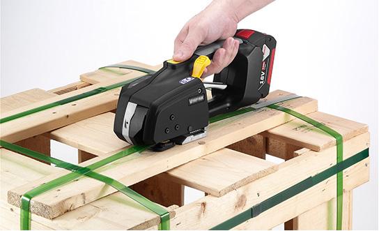 Messersi MB620 Reggiatrice a Batteria Manuale 12-16mm Reggiatrice a Batteria reggia per reggetta PET e PP con batteria e carica 4