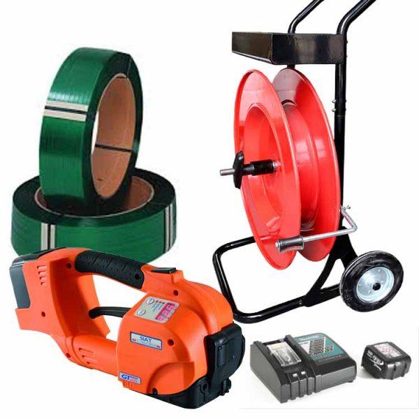 batterystrapping.com-set-tendireggia-batteria-GT-ONE-10-16mm-reggia-pet-carrello-portareggia
